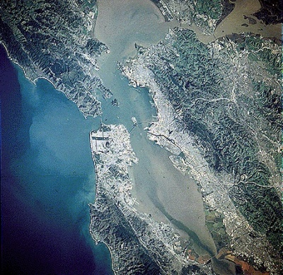 the bay area from space